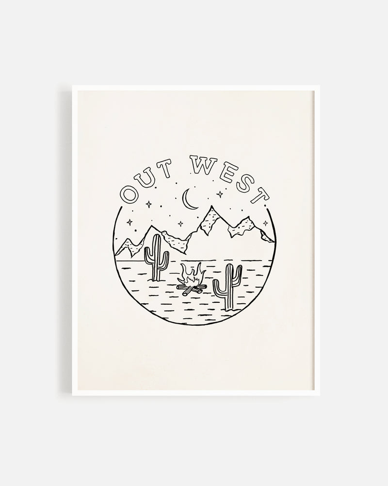 Out West Print - Rylee + Cru