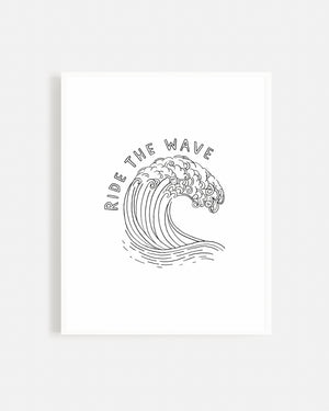 Ride The Wave Print