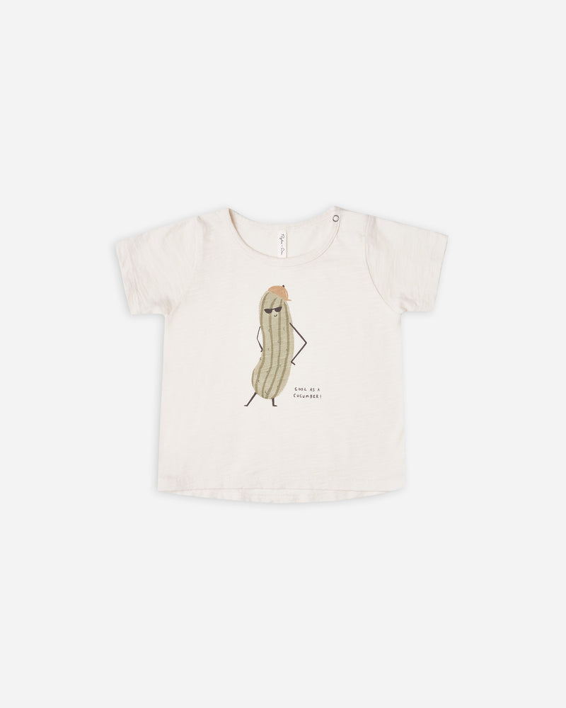 basic tee || cool as a cucumber - Rylee + Cru | Kids Clothes | Trendy Baby Clothes | Modern Infant Outfits |