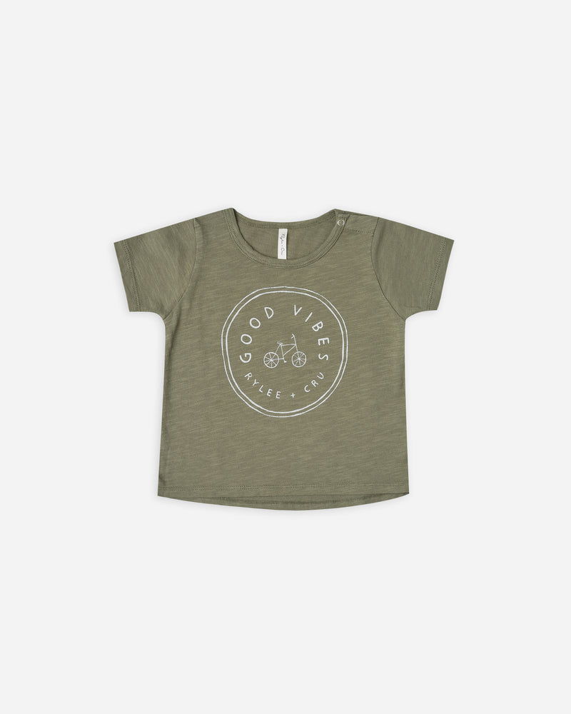 basic tee || good vibes - Rylee + Cru | Kids Clothes | Trendy Baby Clothes | Modern Infant Outfits |