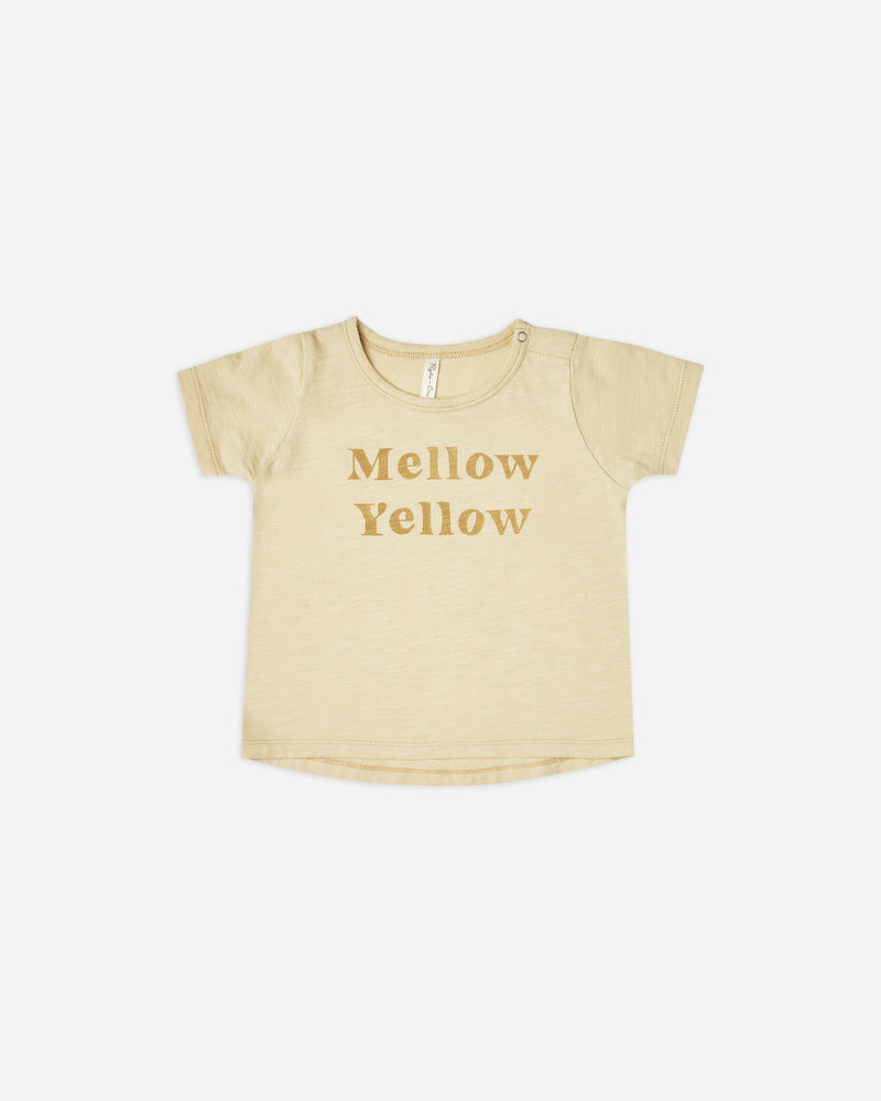 basic tee || mellow yellow - Rylee + Cru | Kids Clothes | Trendy Baby Clothes | Modern Infant Outfits |