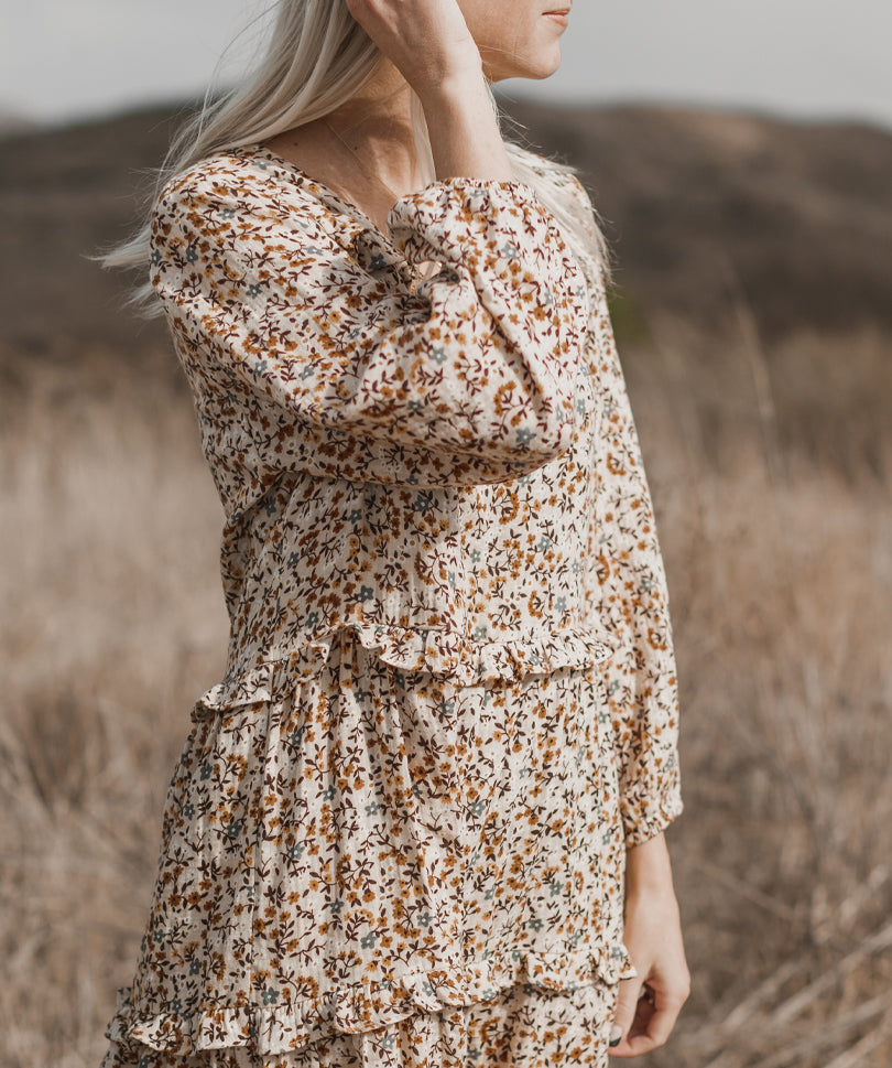 Mabel Dress | Floral Print - Rylee + Cru