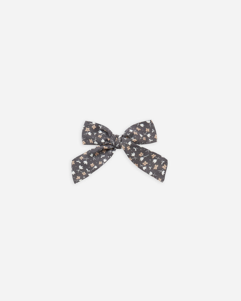 girl bow || washed indigo ditsy - Rylee + Cru