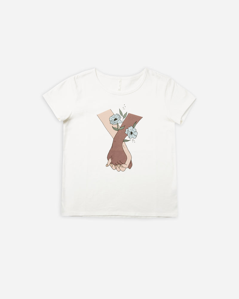 basic tee | hand in hand - Rylee + Cru | Kids Clothes | Trendy Baby Clothes | Modern Infant Outfits |