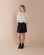 Button Front Mini Skirt | Black - Rylee + Cru