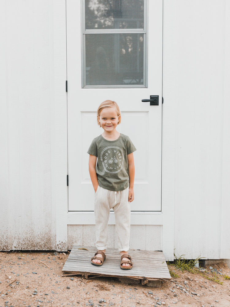 hawthorne trouser || sage stripe - Rylee + Cru | Kids Clothes | Trendy Baby Clothes | Modern Infant Outfits |