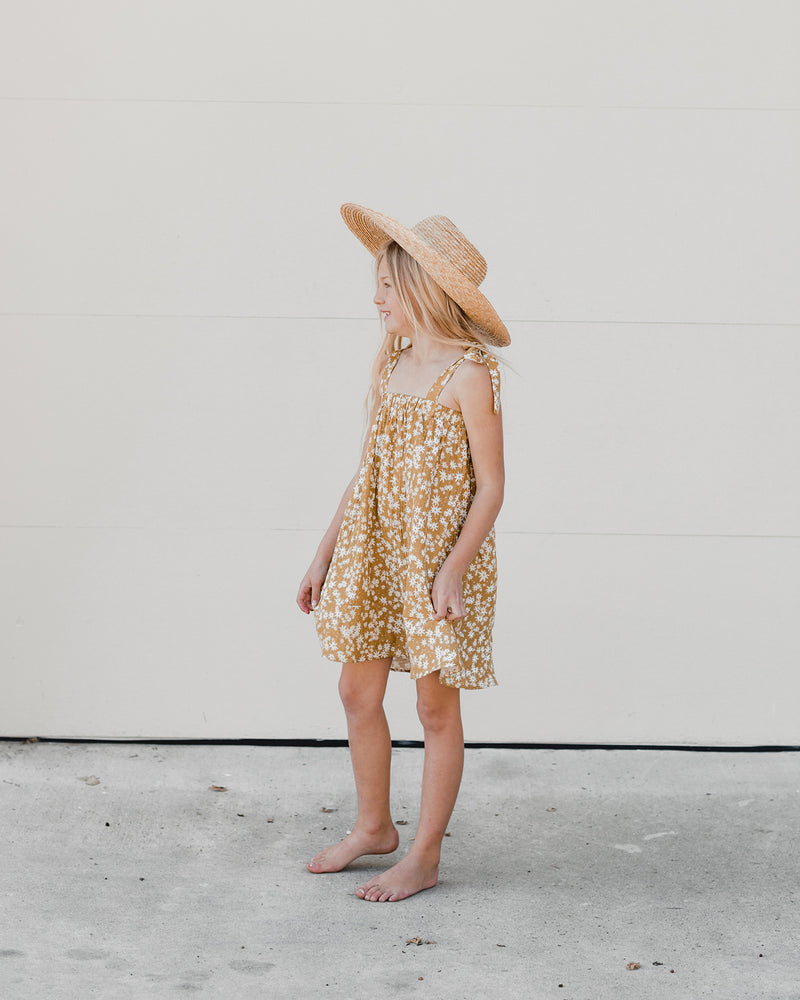 shoulder tie dress || scattered daisy