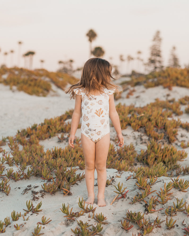 frill one-piece || sea life - Rylee + Cru | Kids Clothes | Trendy Baby Clothes | Modern Infant Outfits |