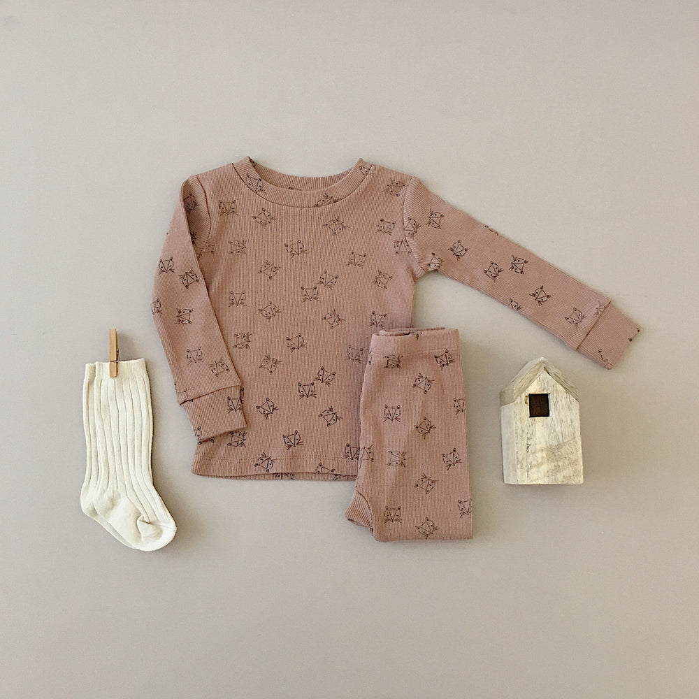 Fox Pajama Set || Truffle - Rylee + Cru | Kids Clothes | Trendy Baby Clothes | Modern Infant Outfits |