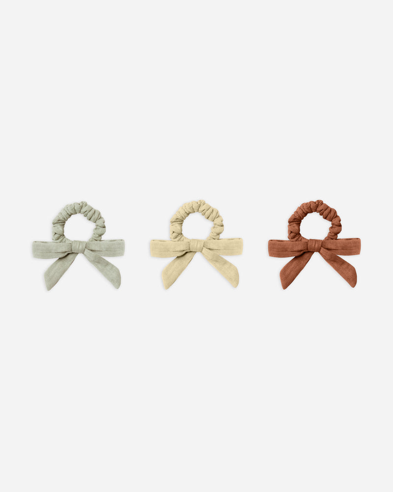 little bow scrunchie, set of 3 - Rylee + Cru | Kids Clothes | Trendy Baby Clothes | Modern Infant Outfits |