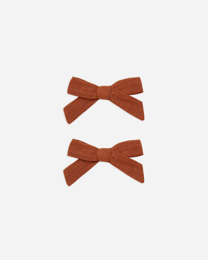 bow w. clip || amber - Rylee + Cru | Kids Clothes | Trendy Baby Clothes | Modern Infant Outfits |