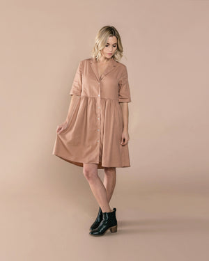 Jeanette Dress | Truffle - Rylee + Cru