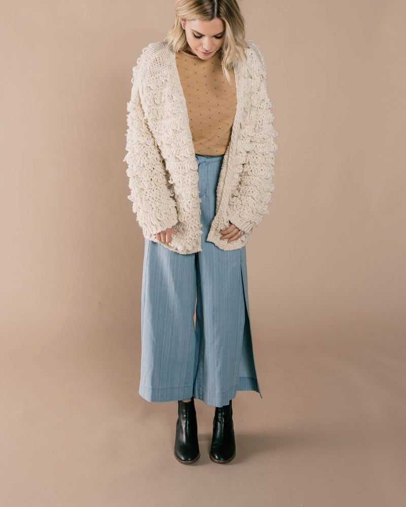 Wide Leg Pant | Washed Denim - Rylee + Cru