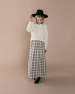 Check Janise Skirt | Ivory / Black - Rylee + Cru
