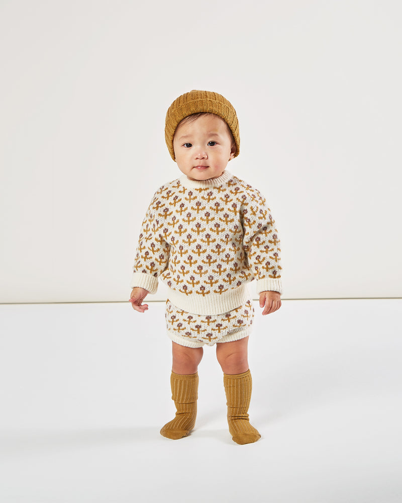 knit bloomer || flower stitch - Rylee + Cru