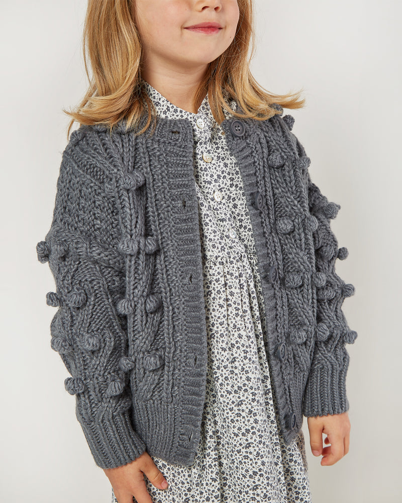 bobble cardigan || washed indigo - Rylee + Cru