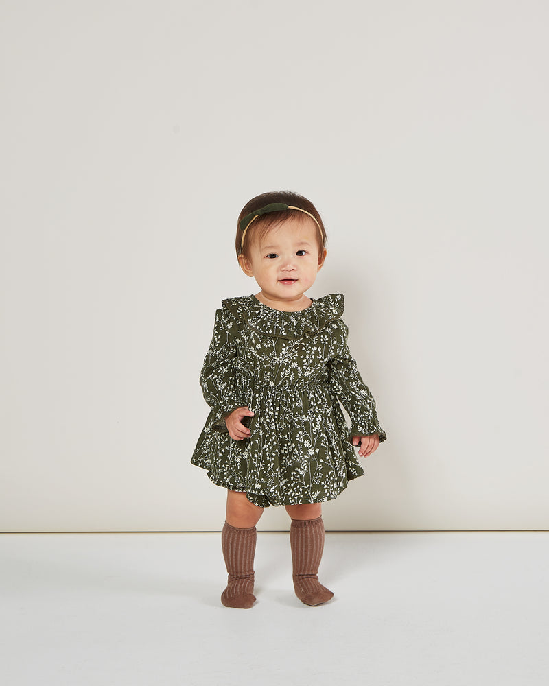 ruffle collar baby dress || vines - Rylee + Cru