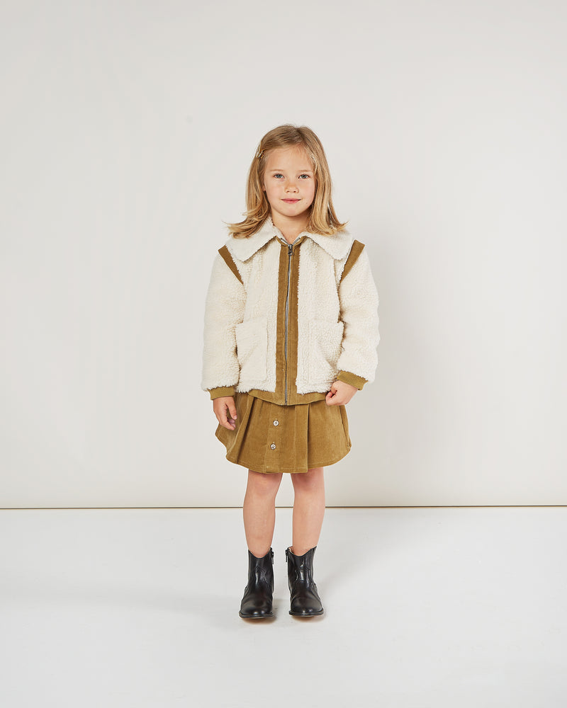 sherpa jacket || natural - Rylee + Cru | Kids Clothes | Trendy Baby Clothes | Modern Infant Outfits |