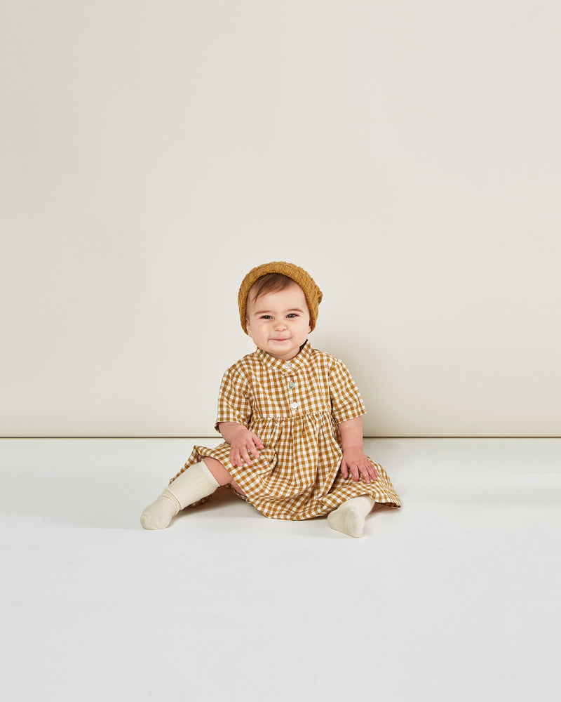 esme dress || goldenrod gingham - Rylee + Cru | Kids Clothes | Trendy Baby Clothes | Modern Infant Outfits |