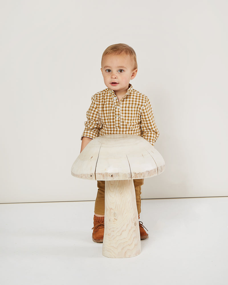 mason shirt || goldenrod gingham - Rylee + Cru | Kids Clothes | Trendy Baby Clothes | Modern Infant Outfits |