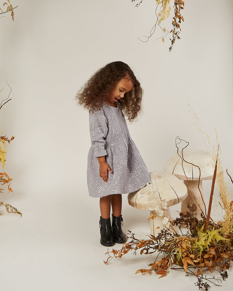 sadie dress || moondust - Rylee + Cru | Kids Clothes | Trendy Baby Clothes | Modern Infant Outfits |