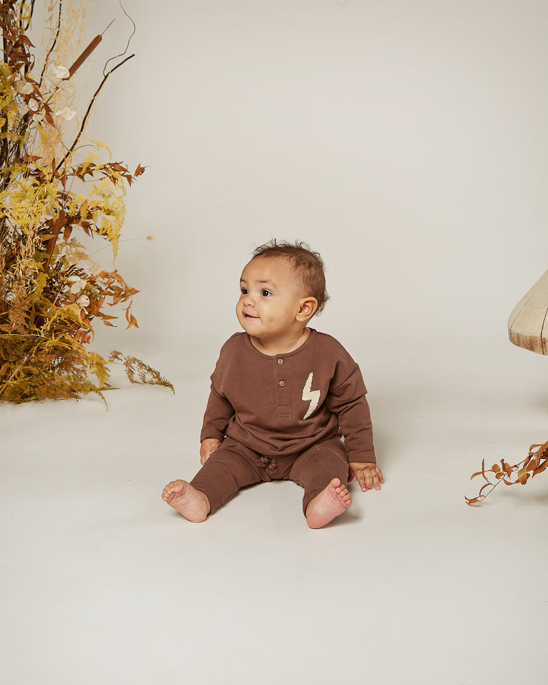 longsleeve henley || bolt - Rylee + Cru | Kids Clothes | Trendy Baby Clothes | Modern Infant Outfits |