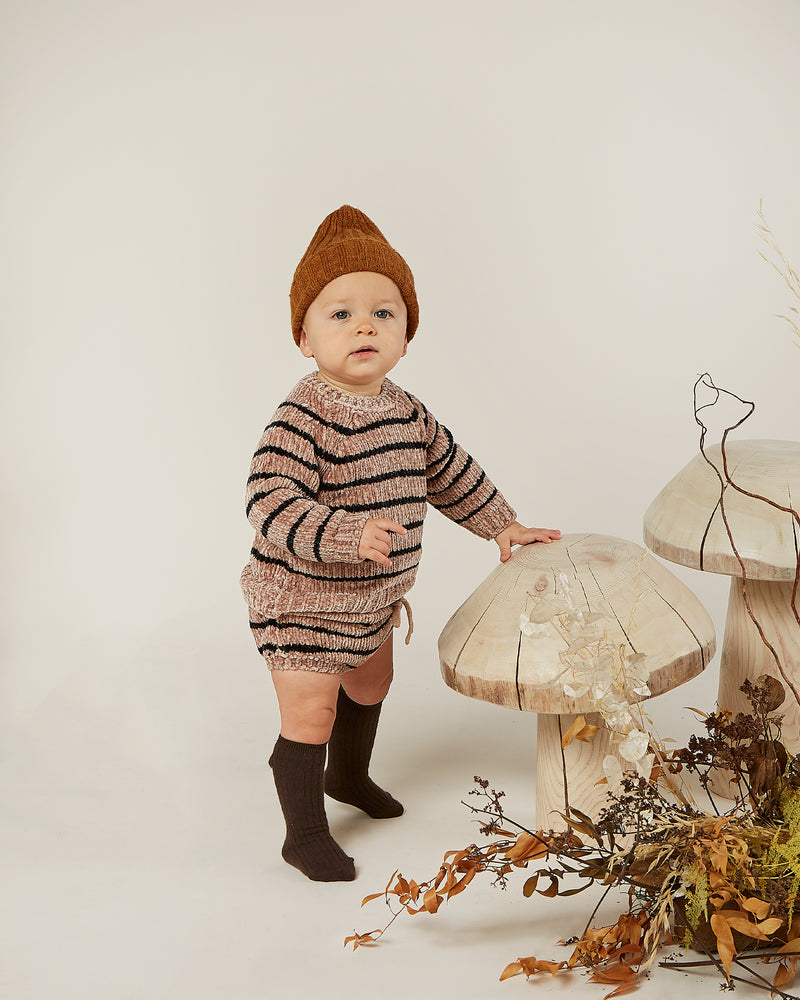 chenille sweater || oat stripe - Rylee + Cru | Kids Clothes | Trendy Baby Clothes | Modern Infant Outfits |