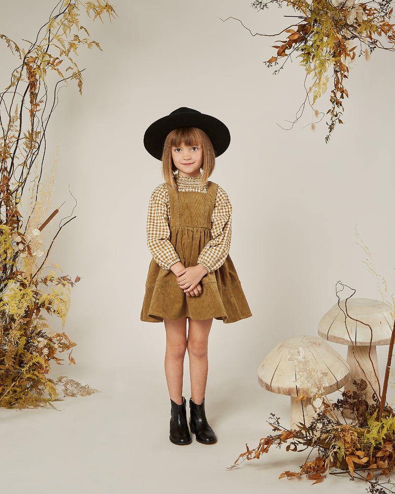 audrey blouse || goldenrod gingham - Rylee + Cru | Kids Clothes | Trendy Baby Clothes | Modern Infant Outfits |