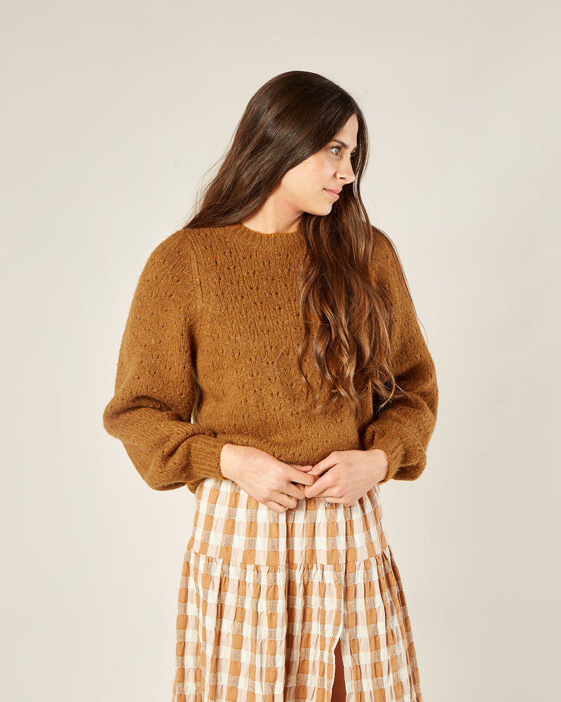 balloon sweater | cinnamon - Rylee + Cru