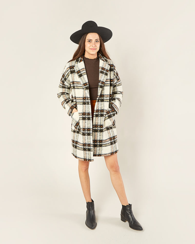 longline coat | fall plaid - Rylee + Cru | Kids Clothes | Trendy Baby Clothes | Modern Infant Outfits |