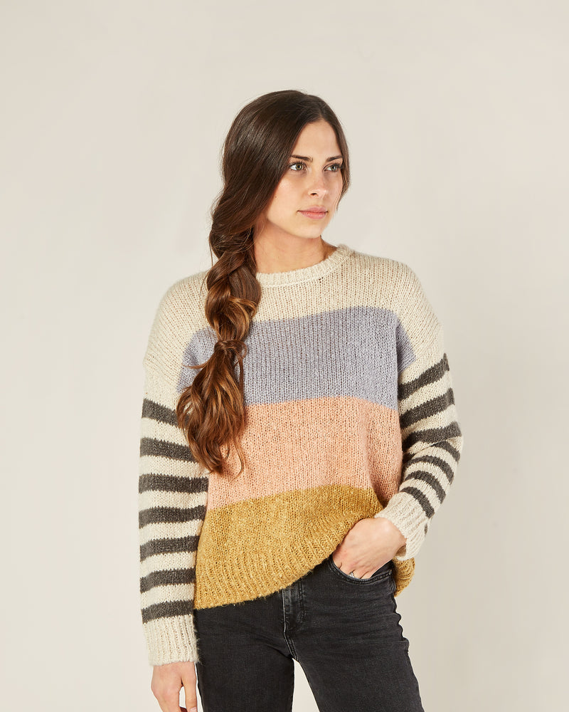 aspen sweater | color block - Rylee + Cru