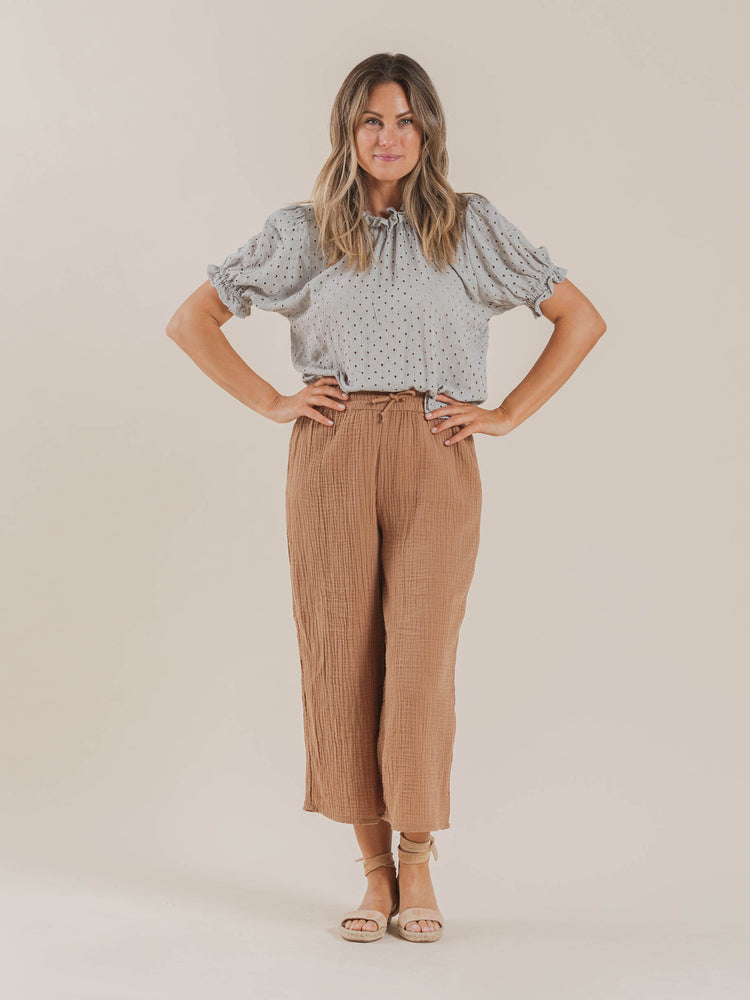 wide leg pant | terracotta - Rylee + Cru | Kids Clothes | Trendy Baby Clothes | Modern Infant Outfits |