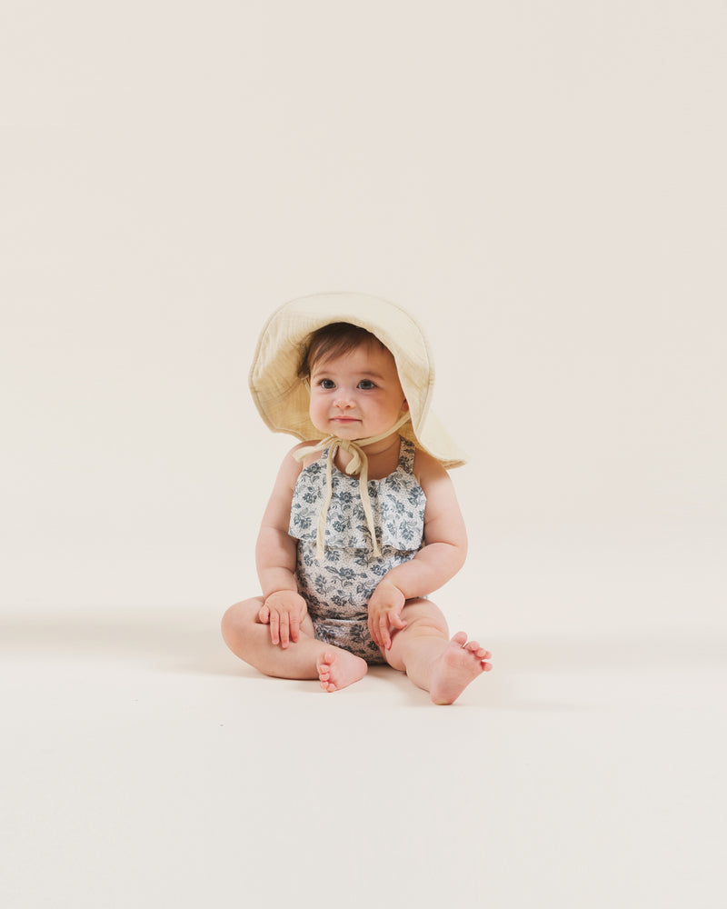 floppy sun hat || butter - Rylee + Cru | Kids Clothes | Trendy Baby Clothes | Modern Infant Outfits |