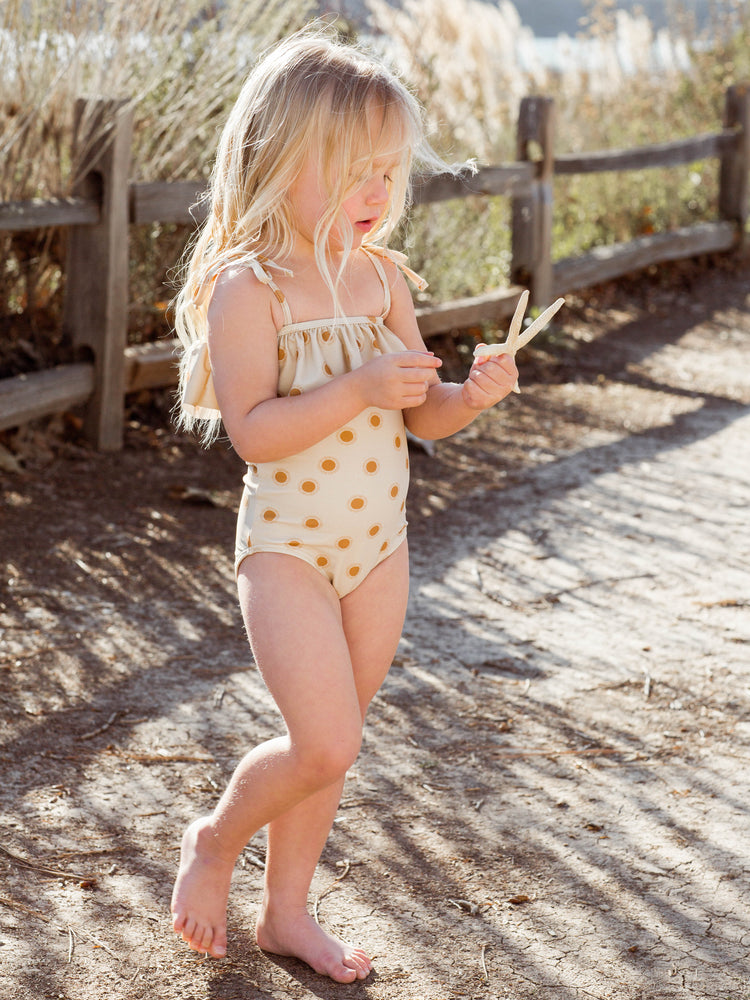 tie ruffle onepiece || suns - Rylee + Cru | Kids Clothes | Trendy Baby Clothes | Modern Infant Outfits |
