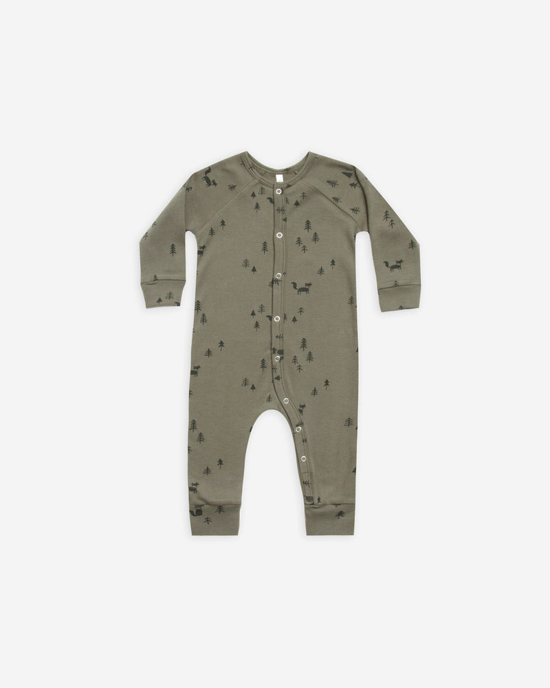 long john pajamas || woods - Rylee + Cru | Kids Clothes | Trendy Baby Clothes | Modern Infant Outfits |