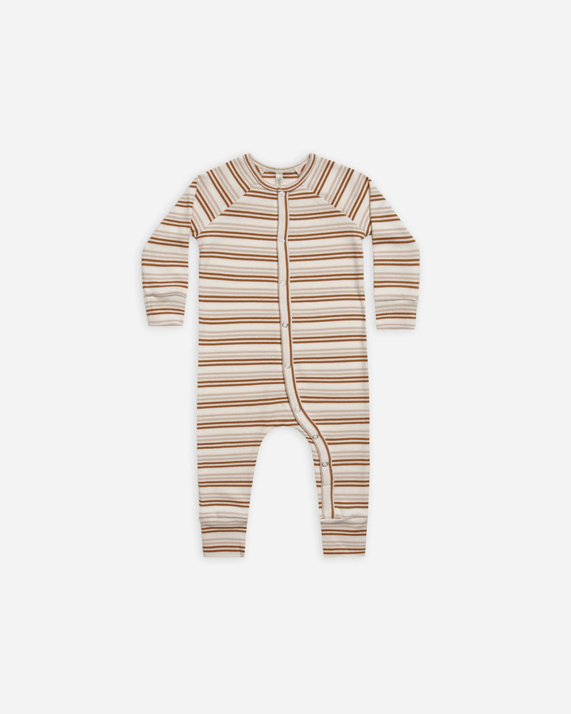 long john pajamas || cinnamon stripe - Rylee + Cru | Kids Clothes | Trendy Baby Clothes | Modern Infant Outfits |