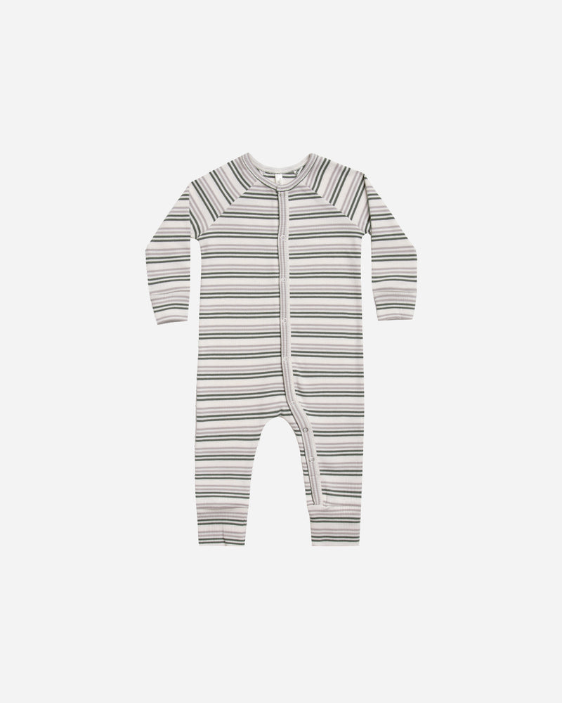 long john pajamas || forest stripe - Rylee + Cru | Kids Clothes | Trendy Baby Clothes | Modern Infant Outfits |