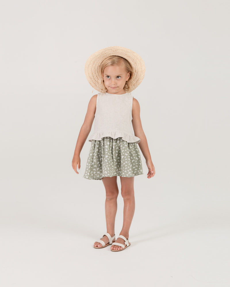 oceanside top || silver - Rylee + Cru | Kids Clothes | Trendy Baby Clothes | Modern Infant Outfits |