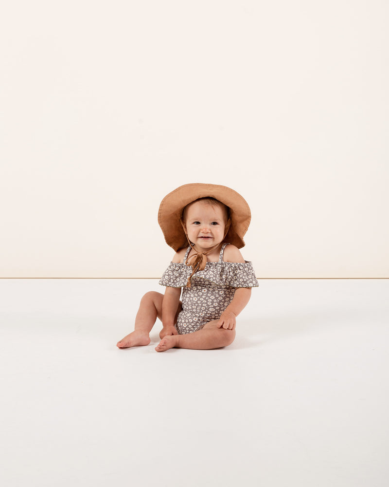 off-the-shoulder onepiece || flora - Rylee + Cru | Kids Clothes | Trendy Baby Clothes | Modern Infant Outfits |