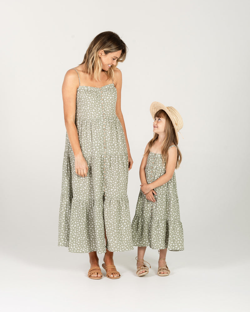 tiered maxi dress | butterfly