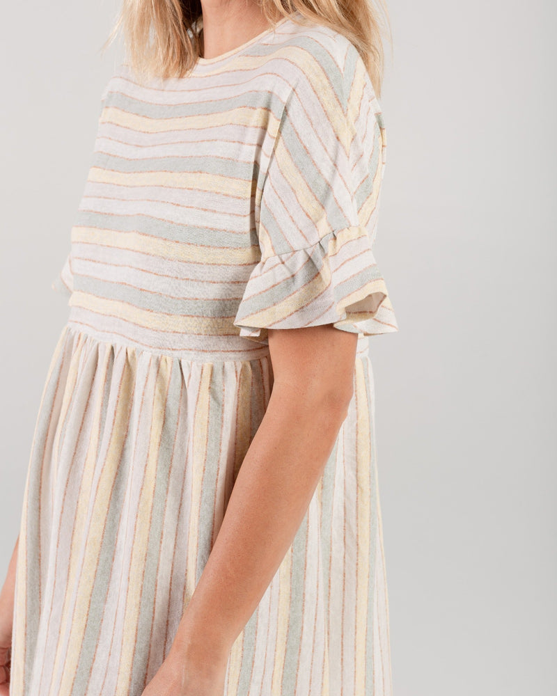 babydoll dress | carnival stripe - Rylee + Cru