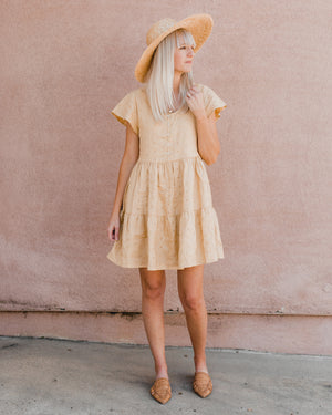 eyelet dolly dress | citron - Rylee + Cru