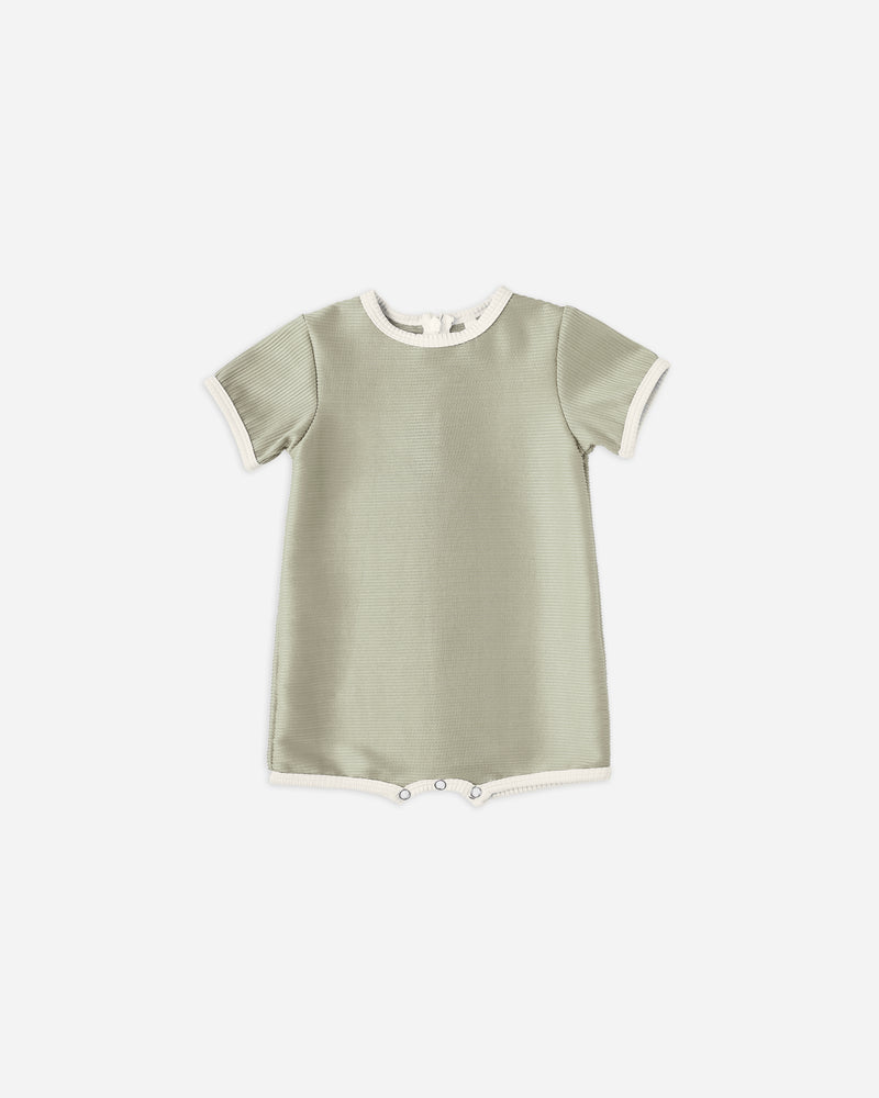 shorty onepiece || sage - Rylee + Cru | Kids Clothes | Trendy Baby Clothes | Modern Infant Outfits |