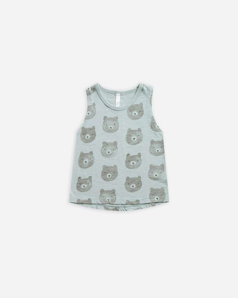 Slub Tank || Bears - Rylee + Cru | Kids Clothes | Trendy Baby Clothes | Modern Infant Outfits |