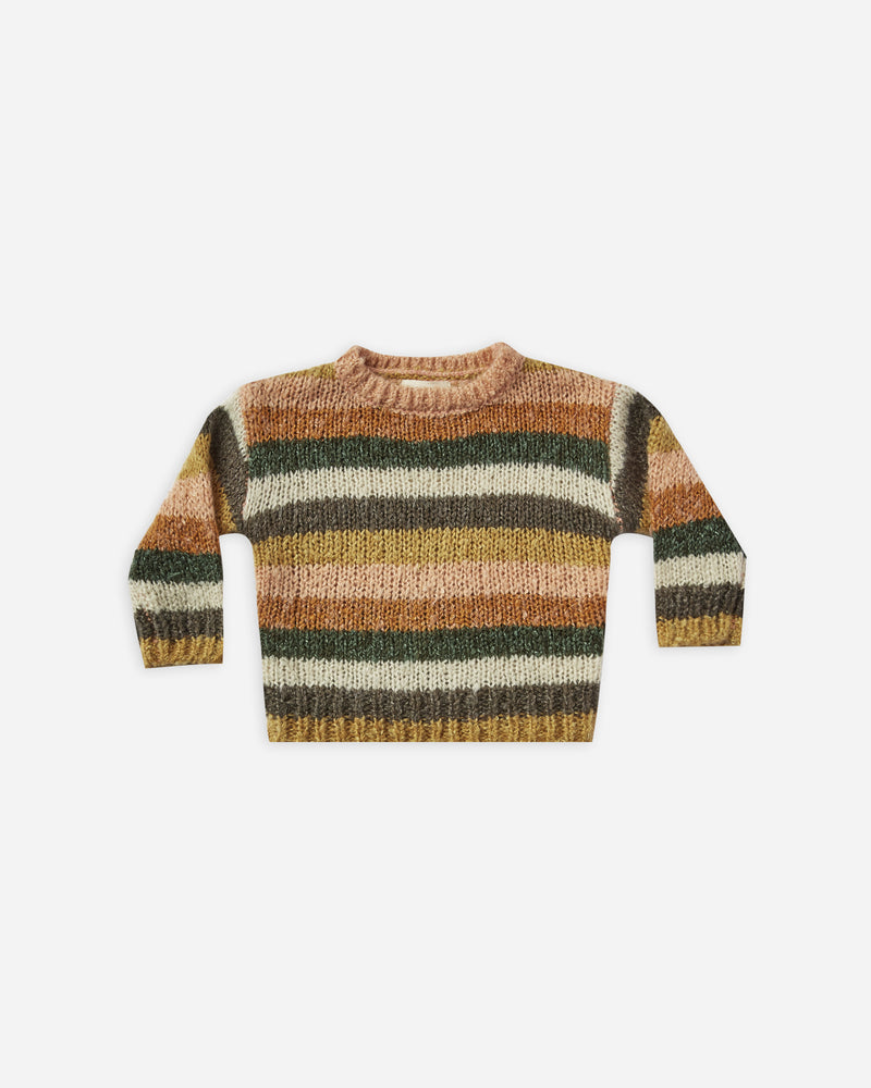 stripe aspen sweater || multi - Rylee + Cru