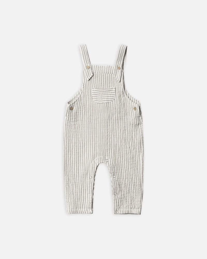 baby overall || olive stripe