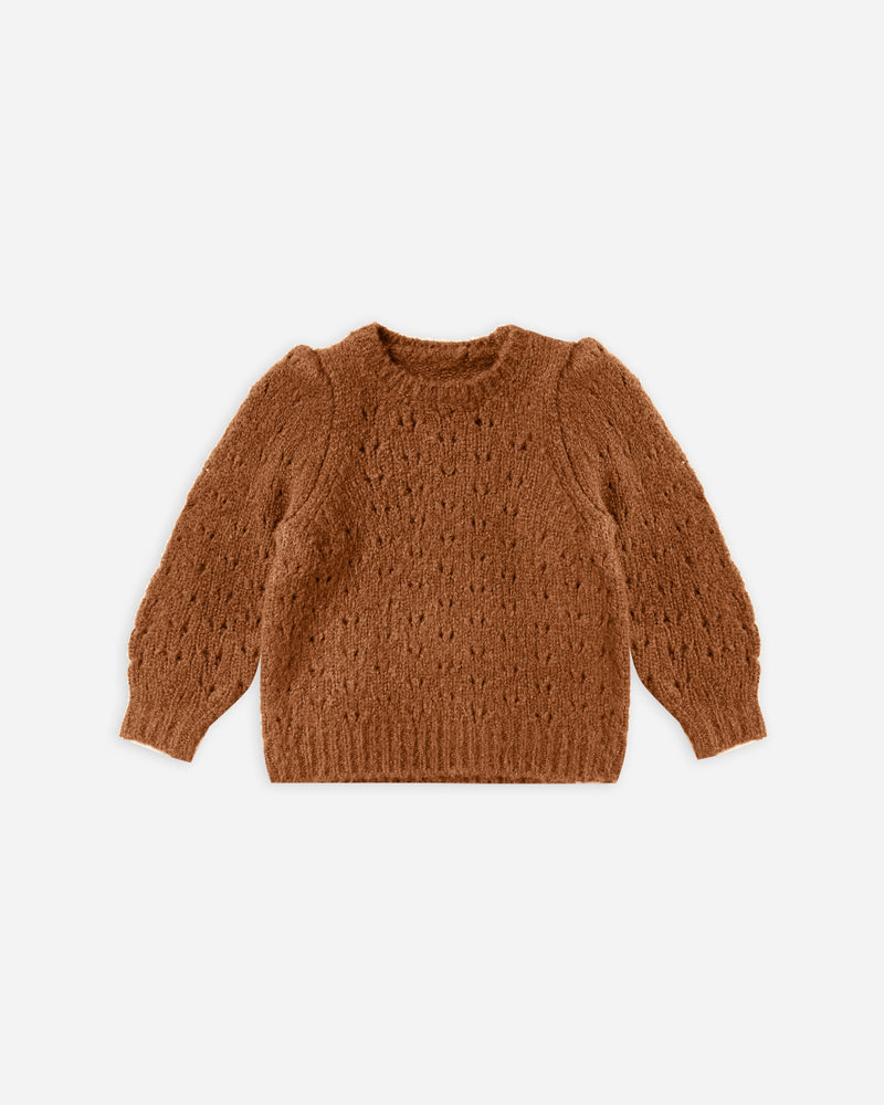 balloon sweater || cinnamon - Rylee + Cru | Kids Clothes | Trendy Baby Clothes | Modern Infant Outfits |