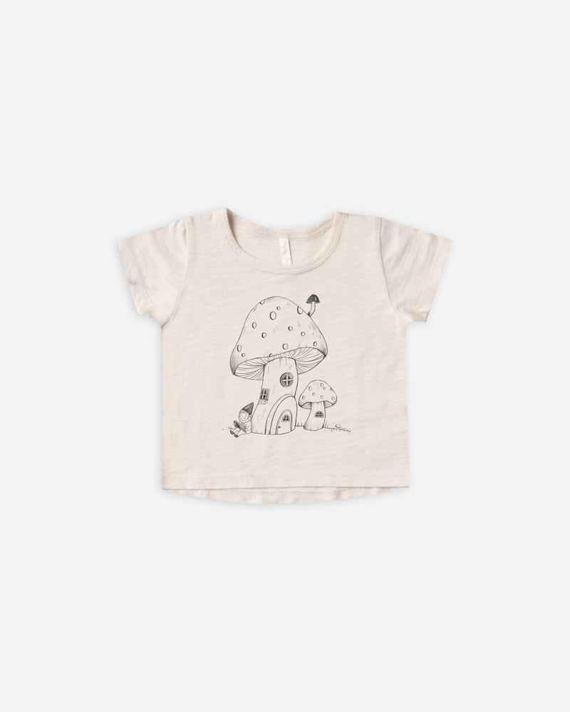 basic tee || mushroom house - Rylee + Cru | Kids Clothes | Trendy Baby Clothes | Modern Infant Outfits |