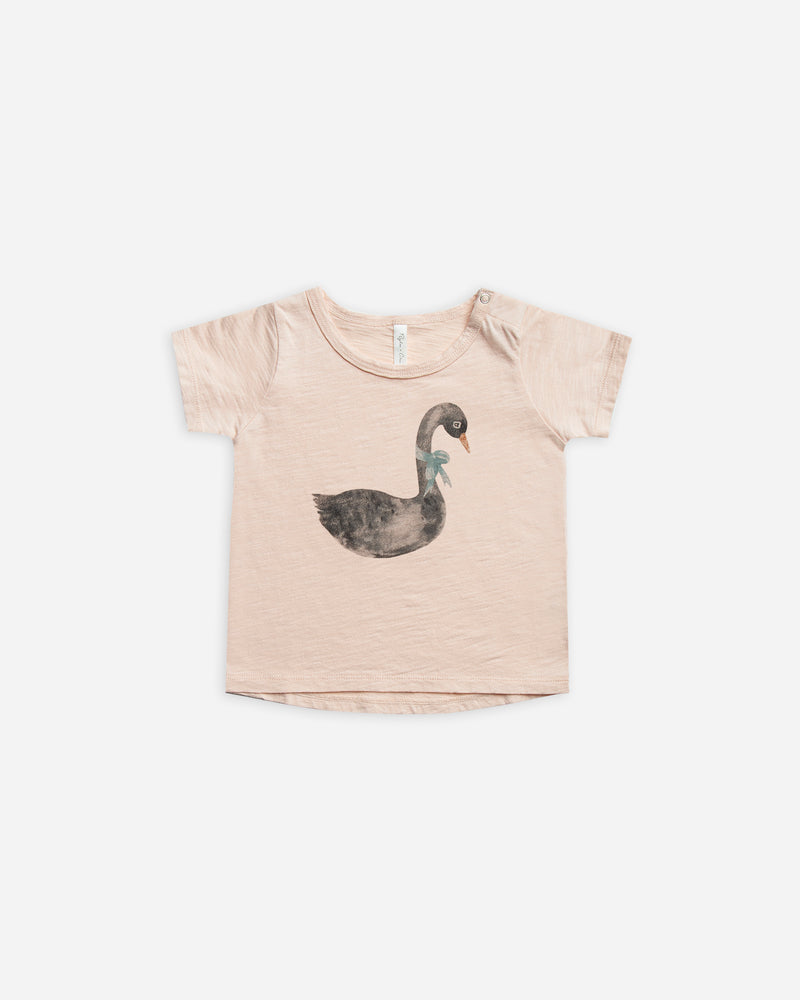 Basic Tee || Swan - Rylee + Cru | Kids Clothes | Trendy Baby Clothes | Modern Infant Outfits |