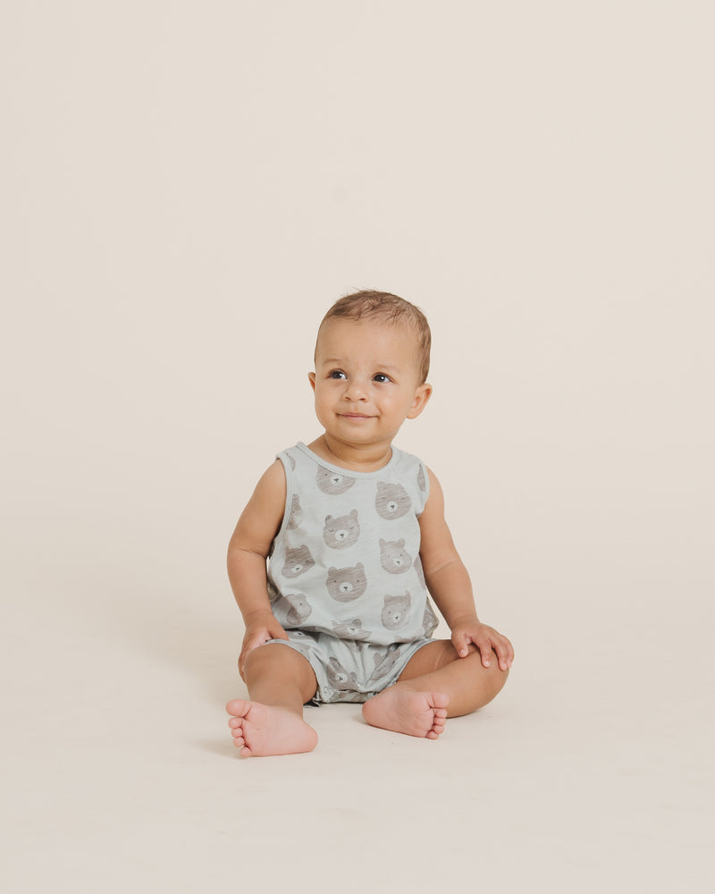 Sleeveless Romper || Bears - Rylee + Cru